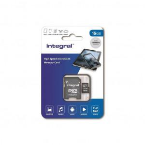 Integral 64GB High Speed microSDHC/XC V10 UHS-I U1+adapter