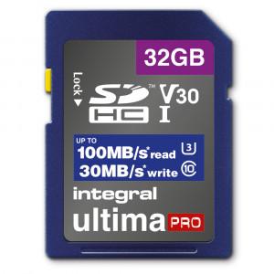 Integral 32gb High Speed SDHC/XC V30 UHS-I U3