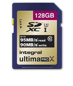 INTEGRAL 128GB SDXC UltimaPro X CLASS10 UHS-I U3 95MB spominska kartica