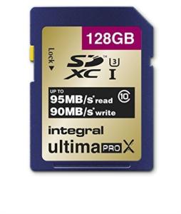 INTEGRAL 128GB SDXC UltimaPro X CLASS10 UHS-I U3 95MB spominska kartica