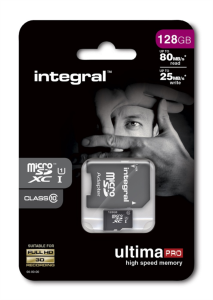 INTEGRAL 128GB MICRO SDXC class10 80MB/s SPOMINSKA KARTICA+ SD ADAPTER