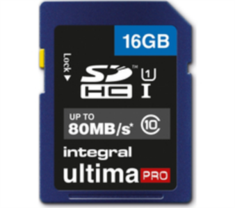 INTEGRAL 16GB SDHC UltimaPro CLASS10 80MB UHS-I U1 spominska kartica