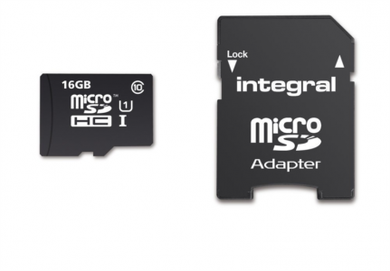 INTEGRAL 16GB SMARTPHONE & TABLET MICRO SDHC class10 UHS-I U1 90MB/s SPOMINSKA KARTICA+ SD ADAPTER