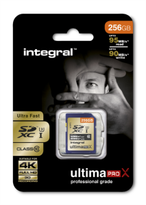 INTEGRAL 256GB SDXC UltimaPro X CLASS10 UHS-I U3 95MB spominska kartica