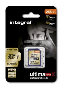 INTEGRAL 256GB SDXC UltimaPro X CLASS10 UHS-I U3 95MB spominska kartica