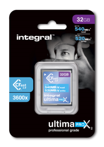 INTEGRAL 32GB ULTIMAPRO X2 CFAST 2.0