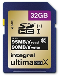 INTEGRAL 32GB SDHC UltimaPro X CLASS10 UHS-I U3 95MB spominska kartica