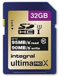 INTEGRAL 32GB SDHC UltimaPro X CLASS10 UHS-I U3 95MB spominska kartica