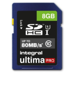 INTEGRAL 8GB SDHC UltimaPro CLASS10 80MB UHS-I U1 spominska kartica