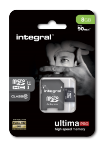 INTEGRAL 8GB MICRO SDHC class10 90MB/s SPOMINSKA KARTICA+ SD ADAPTER