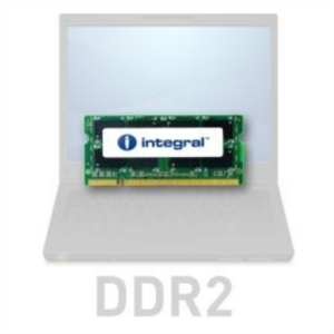 Integral 2GB DDR2-800 SODIMM PC2-6400 CL6, 1.8V