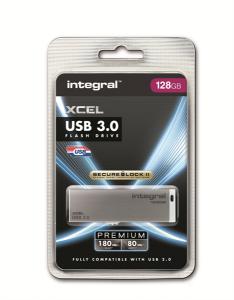 INTEGRAL XCEL 128GB USB3.0 siv spominski ključek