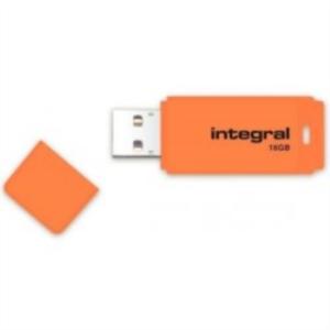 INTEGRAL NEON 16GB USB2.0 oranžen spominski ključek