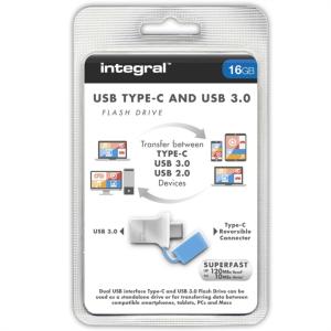 INTEGRAL FUSION 16GB USB-C in USB3.0 spominski ključek