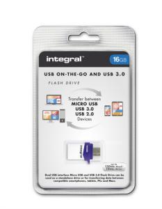INTEGRAL 16GB MICRO FUSION USB3.0 OTG spominski ključek