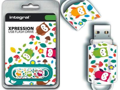 INTEGRAL XPRESSION OWLS 16GB USB2.0 spominski ključek