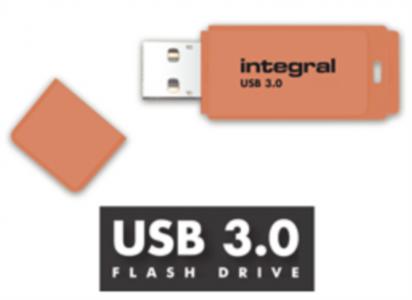 INTEGRAL 32 GB NEON 3.0. ORANŽEN