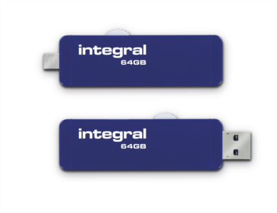 Integral 64GB Slide USB3.0 OTG ( On-The-Go) adapter