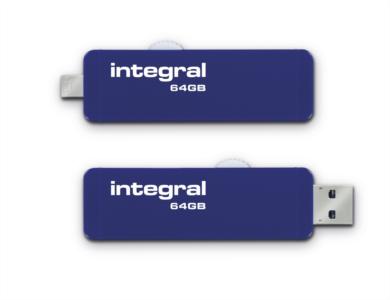 Integral 64GB Slide USB3.0 OTG ( On-The-Go) adapter