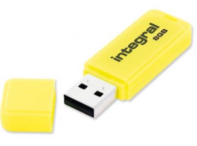 INTEGRAL NEON 8GB USB2.0 rumen spominski ključek