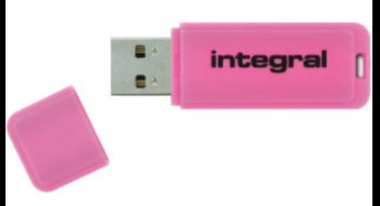INTEGRAL NEON 8GB USB2.0 pink spominski ključek
