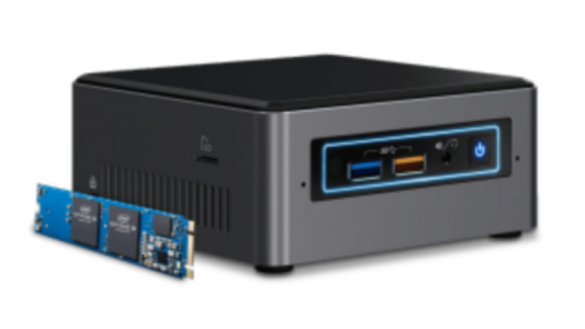 "Intel NUC kit i3 NUC7I3BNH 2,5"" z Intel Optane 16GB modulom"