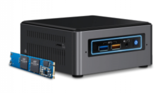 "Intel NUC kit i7 NUC7I7BNH 2,5"" z Intel Optane 16GB modulom"