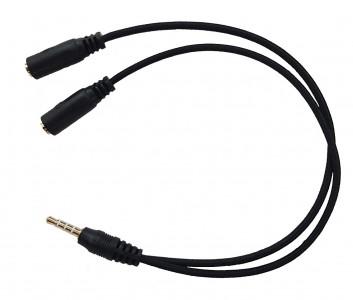 HAVIT adapter 3.5mm (M) na 2x 3.5mm (Ž  - mikrofon + slušalke)
