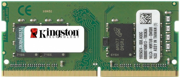 Kingston 8GB DDR4-2400MHz SODIMM PC4-19200 CL17, 1.2V