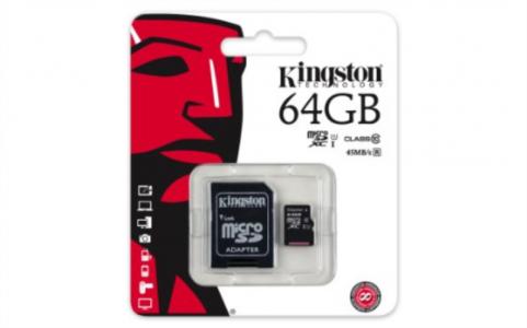 KINGSTON 64GB MICRO SDXC class10 45MB/s SPOMINSKA KARTICA+ SD ADAPTER