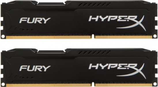 KINGSTON Hyperx Fury 16GB (2x 8GB) DDR3 1600 CL10 black