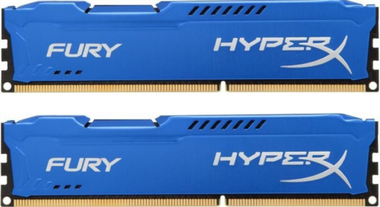 KINGSTON HyperX Fury 8GB (2x 4GB) DDR3 1600 CL10 blue