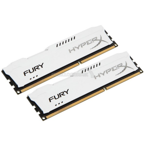 KINGSTON Hyperx Fury 8GB (2x 4GB) DDR3 1866 CL10 white