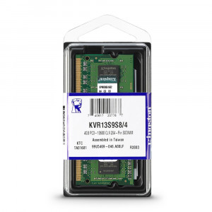 Kingston 4GB DDR3-1333MHz SODIMM PC3-10600 CL19, 1.5V