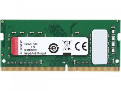 Kingston 8GB DDR4-2400MHz SODIMM PC3-19200 CL17, 1.2V