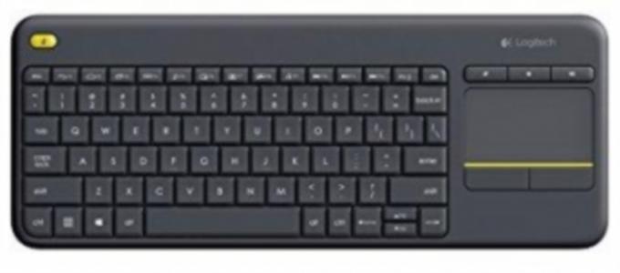 Tipkovnica Logitech Brezžična K400 Plus Wireless Touch črna, Unifying, SLO gravura