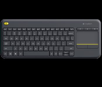 Logitech brezžična Touch K400 PLUS tipkovnica, Unifying, SLO gravura, črna