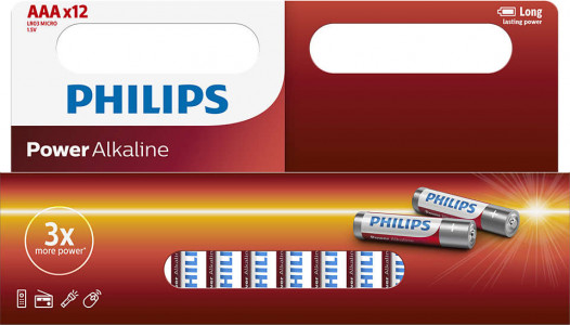 PHILIPS BATERIJA - AAA POWER ALKALINE BLISTER 12 KOS (R03)