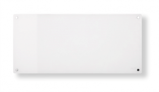 MILL panelni konvekcijski radiator 900W bel steklo MB900DN