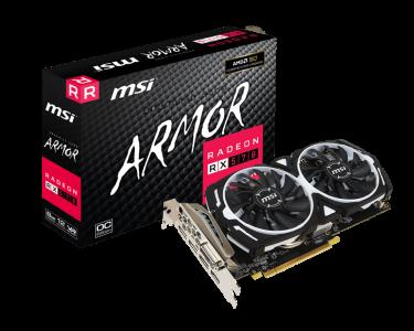 Grafična kartica MSI Radeon RX 570 Armor 8GB OC, 8GB GDDR5, PCI-E 3.0