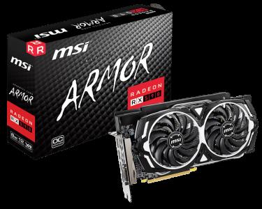 Grafična kartica MSI Radeon RX 590 Armor 8GB OC, 8GB GDDR5, PCI-E 3.0