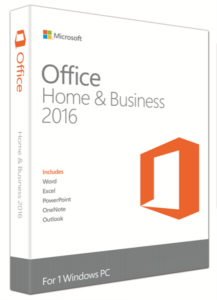 Microsoft Office Home & Business 2016, FPP, angleški