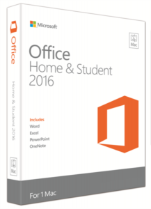 Microsoft Office Mac Home & Student 2016, FPP, angleški