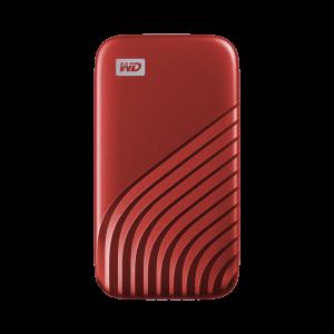 WD My Passport SSD 500GB, USB-C 3.2 rdeč