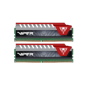 Patriot 8GB (2x 4GB) DDR4 2400 CL15 1.2V DIMM Viper Elite Red