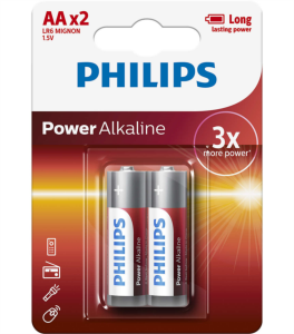 PHILIPS BATERIJA AA - POWER ALKALINE BLISTER 2 KOS (LR6)
