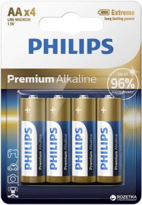 PHILIPS BATERIJA AA - PREMIUM ALKALINE BLISTER 4 KOS (LR6)