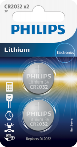PHILIPS baterija CR2032, 3V, 2 kos
