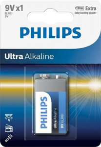 PHILIPS BATERIJA 9V ULTRA 1 KOS