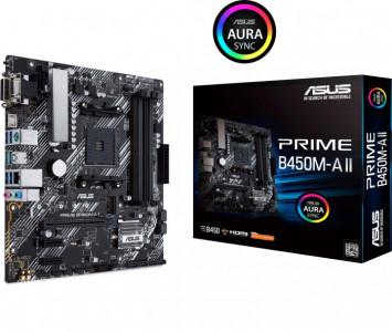 ASUS PRIME B450M-A II, DDR4, SATA3, USB3.2Gen2, HDMI, AM4 mATX